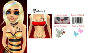 Halloween Elle AND Tattoo Ref by GothicKitta