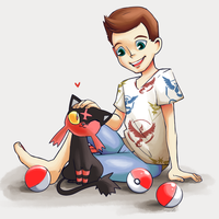 A Boy and his Litten by Catsupy