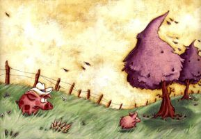 When pigs fly! by loufane