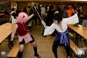 Sakura vs. Sasuke Camp Anime 2013 by BirdMan-Hwah