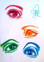 Colorful Eyes Part 2 by demenian