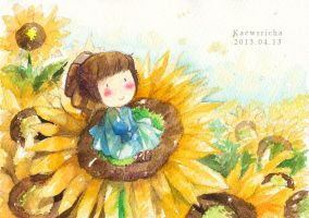 Summer-sunflower by Kaewsricha