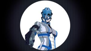ME3 Liara Vector Wallpaper by Stealthero