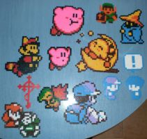 Old school perler bead sprites by DSenderM