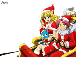 Natsu e Lucy _Merry Christmas_ Render by Stella1994x
