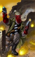 Grifter Attack by MarcBourcier