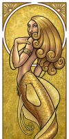 Mermaid Nouveau Gold by JillJohansen