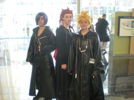 Ikasucon 2011 Axel, Roxas, and Zexion by snowcloud8