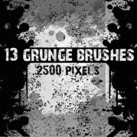 Grunge Photoshop Brush Pack by Brushportal