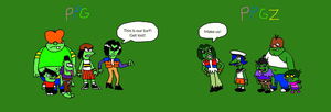 The Gangreen Gang: Classic and Anime by LuciferTheShort