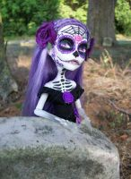 Monster High spectra custom Day of the dead 2 by AdeCiroDesigns