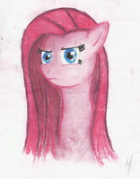 Pinkamena Diane Pie Portrait - Dry chalks by MoonlightFL