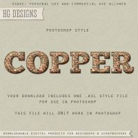 PS Style: COPPER by HGGraphicDesigns