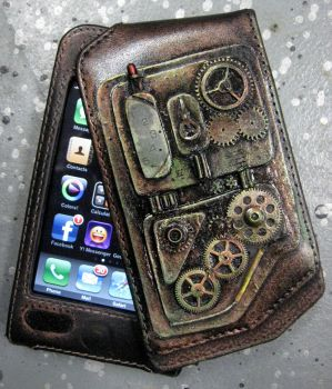 iPhone Case, Steampunk feel by catbones