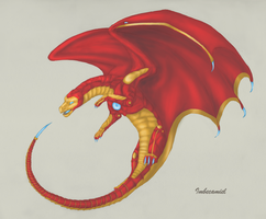 Iron Man Dragon by Imbecamiel