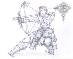 Ragnarok Hunter-Pencils by StriderDen