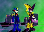 Megaman and Bass exe by Wakeangel2001