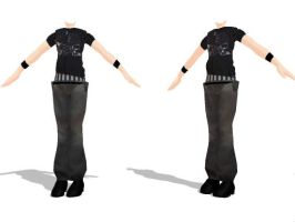 MMD Hip Hop Male Outfit by SachiShirakawa