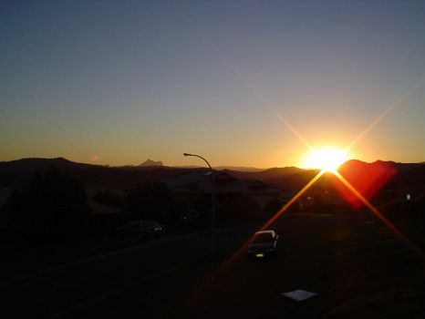 Mt Warning Sunset by TriverseDesigns