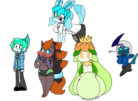 Glaceon's Students by Pikachu84
