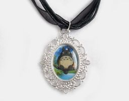 Totoro Cameo Necklace by DeadLulu