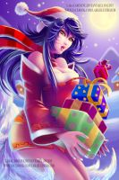 Ahri for Christmas by LaraCaroline