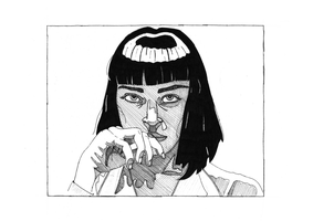 Mia Wallace by superdeathbymilk