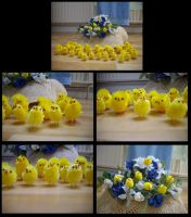 Easter chicks by pan77155