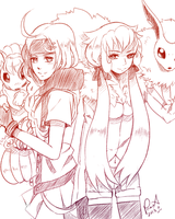 .:Sketch CM:. Mia n Mila by Tobi1313