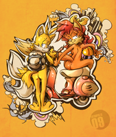 loverboy :Tails X Fiona: by edtropolis