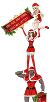+OPHS Christmas+ Cheerleaders Lottery Installation by TenshiNoFuu