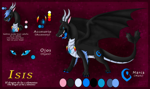 Isis the dragon of the 5 elements by SadowWolfKACT