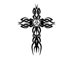 Tribal Cross Tattoo by CortexCreative