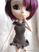 Hand knit wavy dress for Pullip by kivrin82