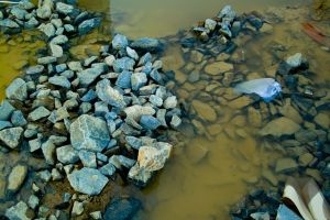 blue rocks and silt. by thespook