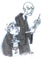 Lord Voldemort and Wormtail by StudioBueno