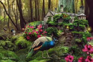 Fairytale forest house by IgnisFatuusII