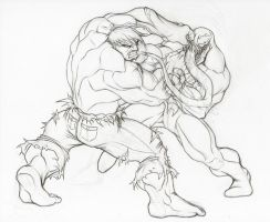 Hulk VS Venom by LuisLarm