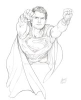 Man of Steel finished pencils by SammyG23