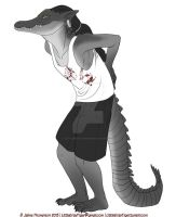 Gator by LittleGrayTiger