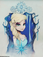 Elsa Tattoo by FoxInShadow
