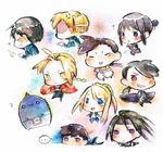Fullmetal Alchemist Chibis by wraith-in-the-shadow