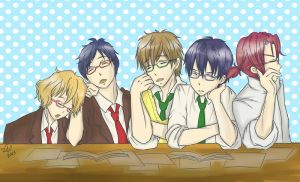 After school at library by asami-h
