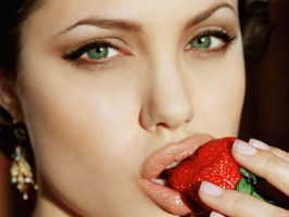 Angelina Jolie Strawberry by DDL999