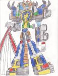 Hurricane Megazord Re-animated by bigtimbears