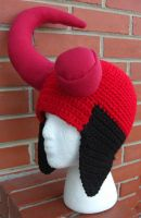 Hellboy Earflap Hat by TheCrochetDragon