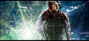 Solid Snake, MGS by Violettaa