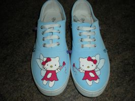 Hello Kitty Shoes by harley-quinn4