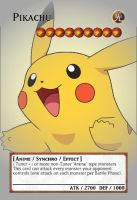 Yugioh! Orica: Pikachu Monster Card by animereviewguy