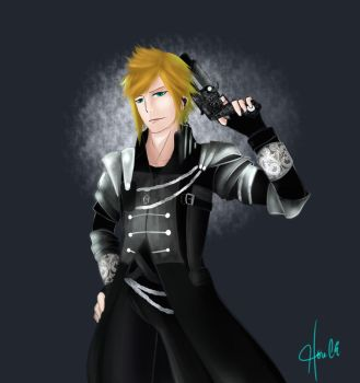 Kingsglaive Prompto by chocobokun